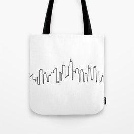 Chicago, Illinois City Skyline Tote Bag