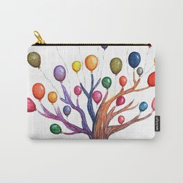 Balloon Tree Watercolor Carry-All Pouch