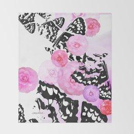 Camellia Blush Throw Blanket