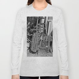 Old Sled- vertical Long Sleeve T-shirt