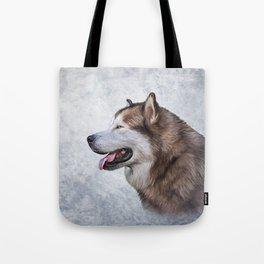 Drawing Dog Alaskan Malamute 5 Tote Bag