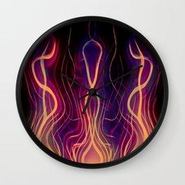 Blacksmith's Forge - Abstract Art Wall Clock
