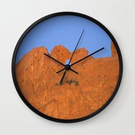 Kissing Camels Red Rocks Wall Clock