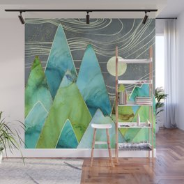 Moonlit Mountains Wall Mural
