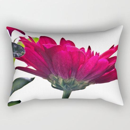 Red Chrysanthemum Flowers Rectangular Pillow