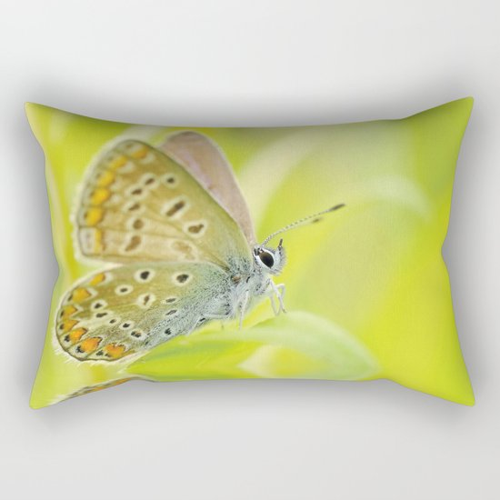 zen style butterfly green outdoor Rectangular Pillow