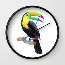 Toucan Watercolor Wall Clock