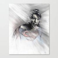 superheroes Canvas Prints featuring Superheroes SF by Alexis Marcou