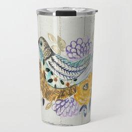 Nesting painted bird Travel Mug