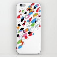 swimming iPhone & iPod Skins featuring Swimming by Nicki Traikos