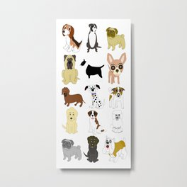 Pet dogs design Metal Print