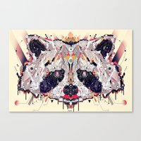 racoon Canvas Prints featuring racoon by yoaz
