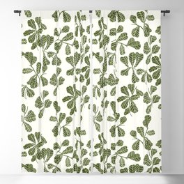 Fig Leaf Pattern Blackout Curtain