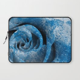 Blue Acrylic Rose Laptop Sleeve