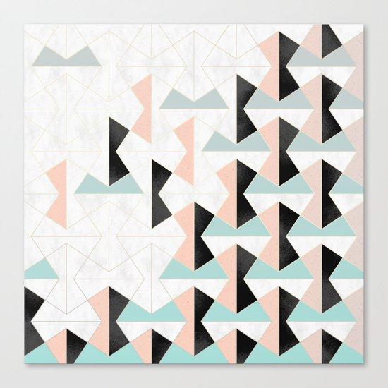 Mixed Material Tiles Canvas Print