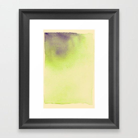 watercolor b. Framed Art Print