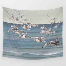 On their way- gulls in flight Wall Tapestry