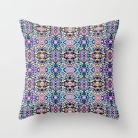 techno Throw Pillows featuring Techno Tribal  by Isabella Salamone