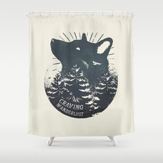 Craving wanderlust Shower Curtain