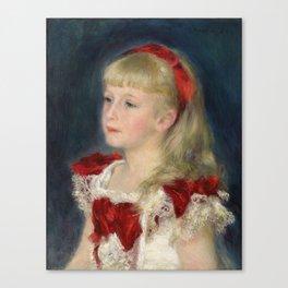 "Auguste Renoir ""Mademoiselle Grimprel au ruban rouge"" Canvas Print"