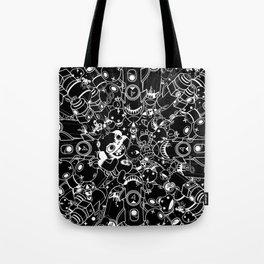 For Good For Evil - Black on White Tote Bag