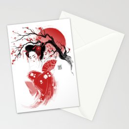 Red Geisha Stationery Cards