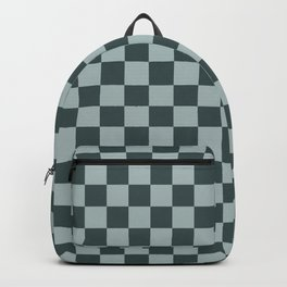 Checkerboard Pattern Inspired By Night Watch PPG1145-7 & Blue Willow Green PPG1145-4 Backpack