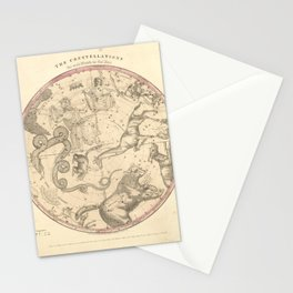The Northern Constellations for Each Month of the Year (1856) Stationery Cards