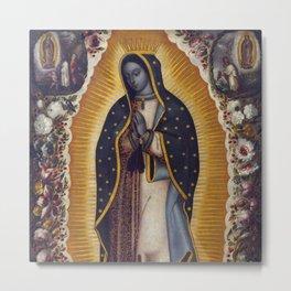 """Manuel de Arellano, Antonio de Arellano """"Virgin of Guadalupe (La Virgen de Guadalupe)""""(1691) Metal Print"""