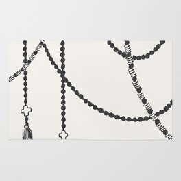 Beaded Garland With Tassels Rug