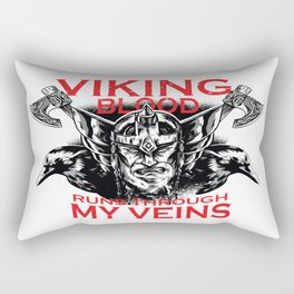 Viking blood Rectangular Pillow