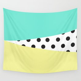 Color Block & Polka Dots Wall Tapestry