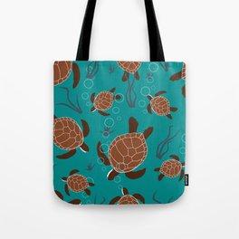 Swimming Sea Turtles Tote Bag