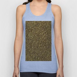Sparkling Metal Structure, golden Unisex Tank Top