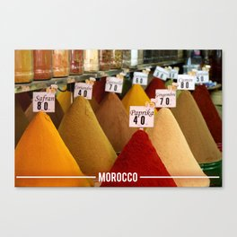 Moroccan Spices, Essential Spices in Moroccan Cooking Canvas Print