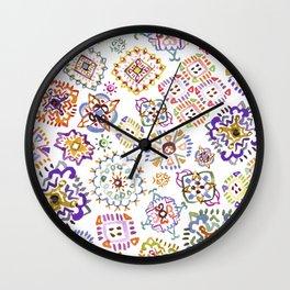 Spring Crochet Wall Clock
