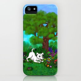 Easter - Spring-awakening - Puppy Capo and Butterfly iPhone Case