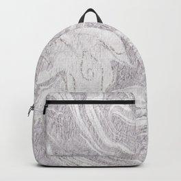 Elegant Chic Silver Glitter White Gray Marble Backpack