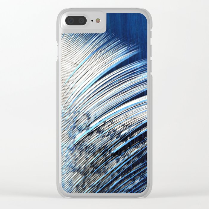 Feather   Feathers   Spiritual   White and Blue Feather   Nature Clear iPhone Case