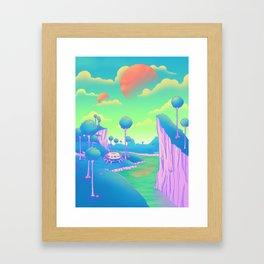 Planet Namek Framed Art Print
