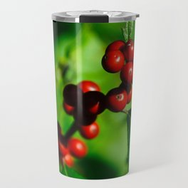 Red Red Red Berries Travel Mug