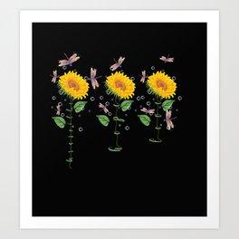 Minnesota Burnsville Sunflower hope love Gifts For Men Women Art Print