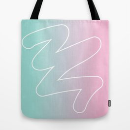 Mark on gradient Tote Bag