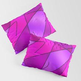 ABSTRACT CURVES #2 (Purples, Violets, Fuchsias & Magentas) Pillow Sham