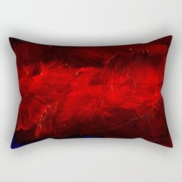 Red And Black Luxury Abstract Gothic Glam Chic by Corbin Henry Rectangular Pillow