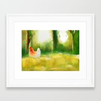 farm Framed Art Prints featuring Farm by Susana Zarate