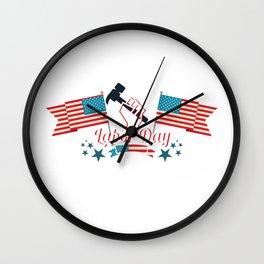 Its Labor Day Wall Clock