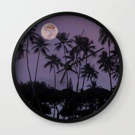 Harvest Moon Over Waikiki. Wall Clock