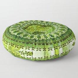 Vintage Lime Mandala Floor Pillow