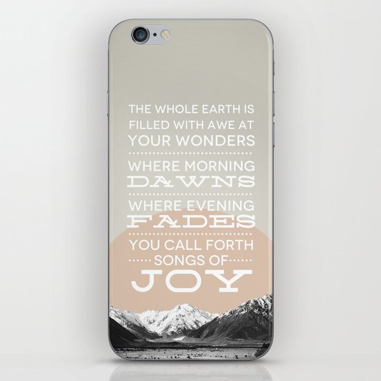 Psalm 65:8 iPhone & iPod Skin